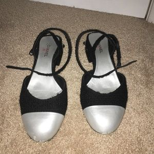 CHANEL Shoes - Chanel 39.5 ankle strap flats